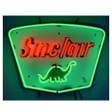 Sinclair neon sign w/ backing