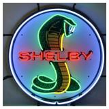 Shelby round neon sign w/ backing