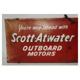 DS Scott-Atwater outboard motors convex sign