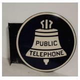 DSP Public Telephone flange sign