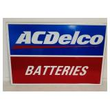 SST AC Delco Batteries embossed sign