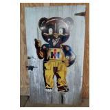 SS IH bear sign on Barn wood door