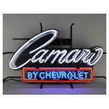 Camaro neon sign w/ backing