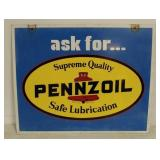 DS Pennzoil swing sign