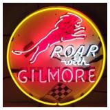 Gilmore round neon sign w/ backing