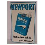 SST Newport cigarette sign