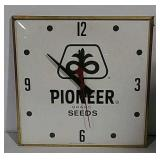 Pioneer Seed Corn clock mfd. by Pam