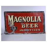 SST embossed Magnolia Beer in bottles signs