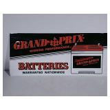 SST embossed Grand Prix batteries sign