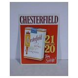 SST embossed chesterfield cigarettes sign