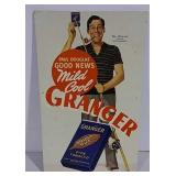 Cardboard Granger Tobacco sign