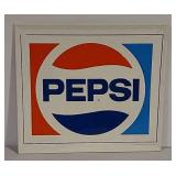 SST embossed Pepsi self framing sign
