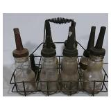 Oil bottles with carrier