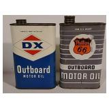 2 oil cans- DX and Phillips 66