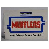SST embossed Walker Mufflers sign