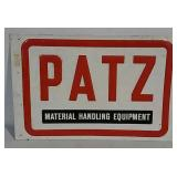 SST embossed Patz Equipment sign