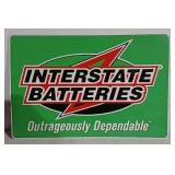 SST embossed Interstate Batteries sign