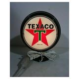 Texaco light up gas pump globe