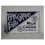 SSP Oak Grove Farm Milk & Cream Alden Bros sign