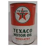 Texaco Motor Oil 5 qt can