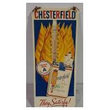 Chesterfield Cigarette tin thermometer