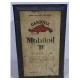 "Gargoyle Mobil Oil ""B"" 5 gal can"