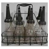Oil bottle rack with 8 bottles