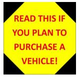 READ FOR CAR PURCHASE INFORMATION