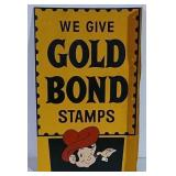 DST We Give Gold Bond Stamps flange sign