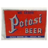 Single sided Potosi Beer sign