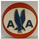 Cast aluminum American Airlines sign