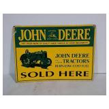 SST embossed John Deere sold here sign