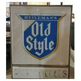 Old Style light up sign with hangers