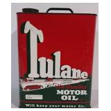 Tulane Motor Oil can