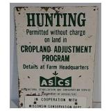 SST Hunting Permitted sign