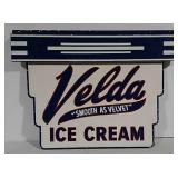 SST embossed Velda Ice Cream sign