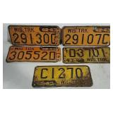 5 Wisconsin Truck License Plates