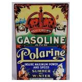 SST Red Crown Gasoline & Polarine Sign