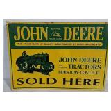 SST Embossed John Deere Sign