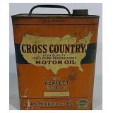 Cross Country Motor Oil 8 Qt Can