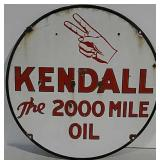 DSP Kendall The 2000 Mile Oil Sign
