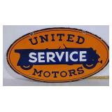 DSP United Service Motors sign