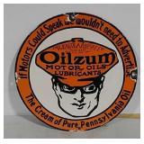 SSP Oilzum motor oils sign