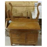 Commode with towel bar