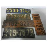 Five WI license plates