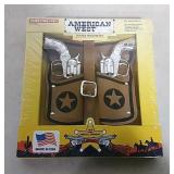 American west double shot holster set
