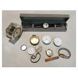 Westclock alarm clock, kohler watch & other misc