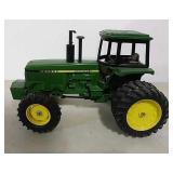 Die-cast John Deere toy tractor