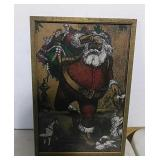 Santa Clause Print in frame