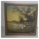 Cows oil painting